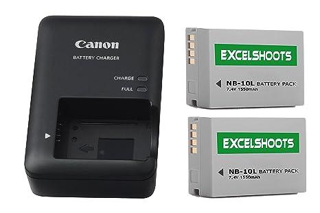 amazon com excelshots cb 2lc battery charger 2x nb 10l li ion
