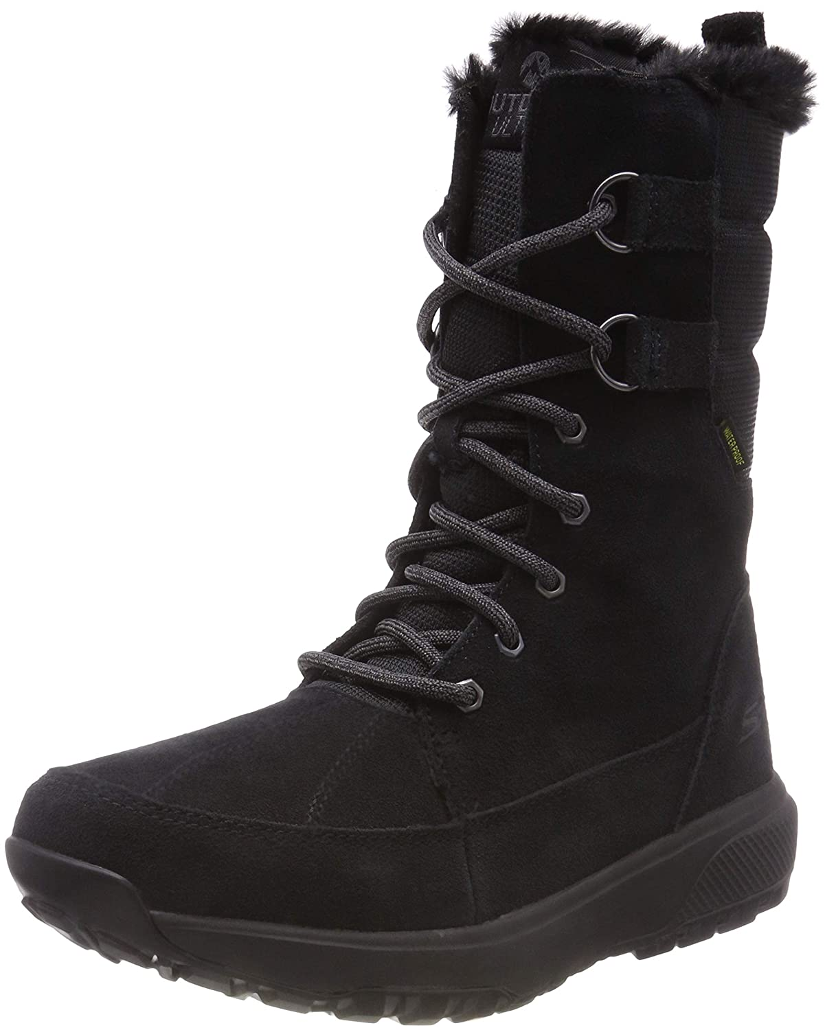 Black Skechers GO Outdoors Ultra Pines Womens Boots