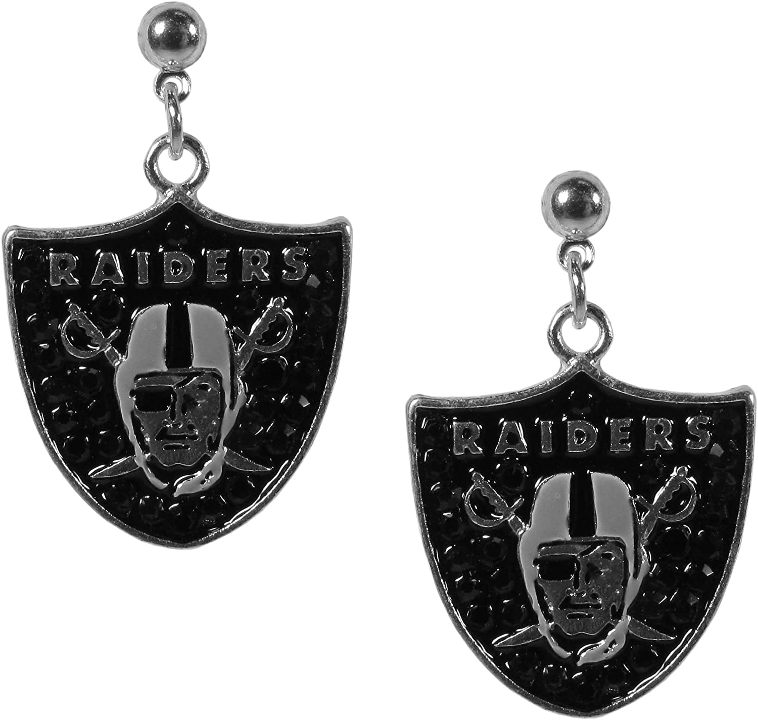 Siskiyou NFL Womens Crystal Stud Earrings