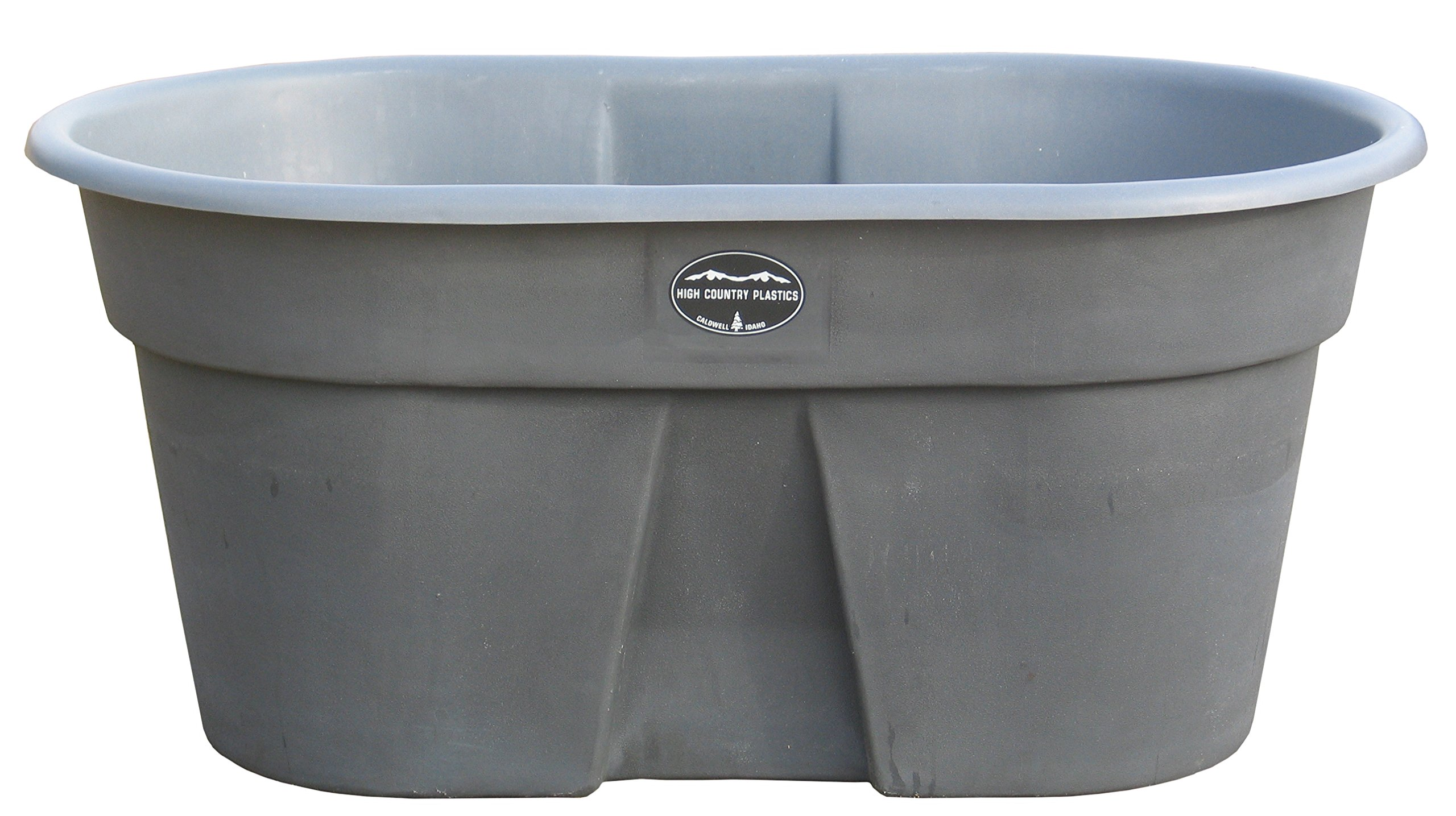 High Country Plastics W-100AG 100 Gallon Water Tank, Ash Gray by High Country Plastics