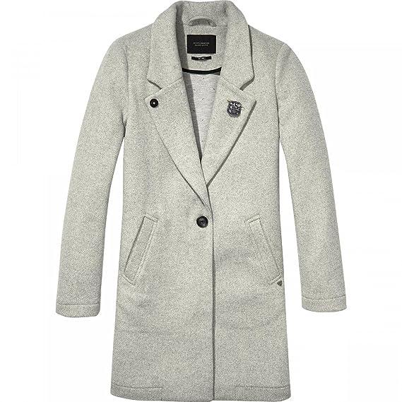 Sonderteil 100% authentifiziert 100% Qualitätsgarantie Scotch & Soda Damen Mantel Bonded Wool Coat: Amazon.de ...