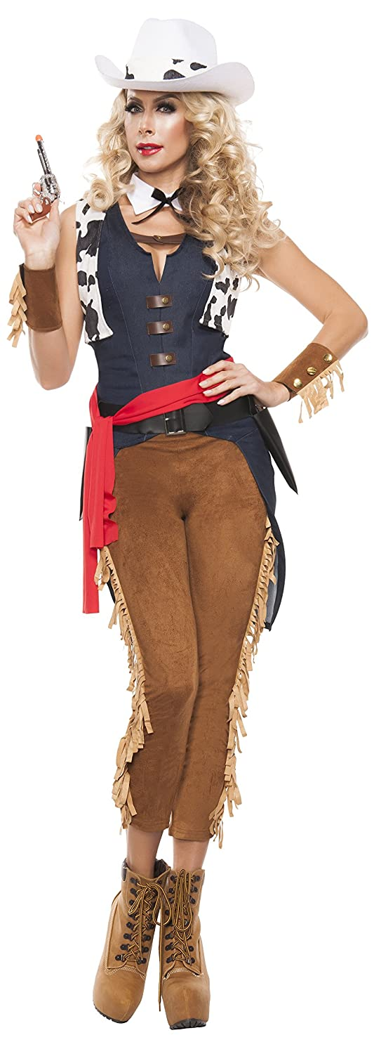Women's Wild Wild West Cowgirl Fancy dress costume Large