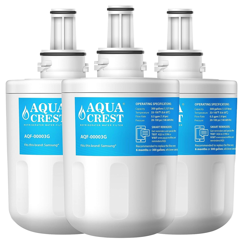 AQUACREST Replacement DA29-00003G Refrigerator Water Filter, Compatible with Samsung DA29-00003G, DA29-00003B, DA29-00003A, Aqua-Pure Plus, HAFCU1 (Pack of 3)