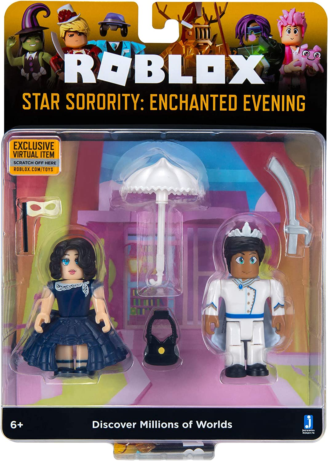 Robloxcom Dance Your Blox Off Www Roblox Free Accounts Amazon Com Roblox Celebrity Collection Star Sorority Enchanted Evening Game Pack Includes Exclusive Virtual Item Toys Games