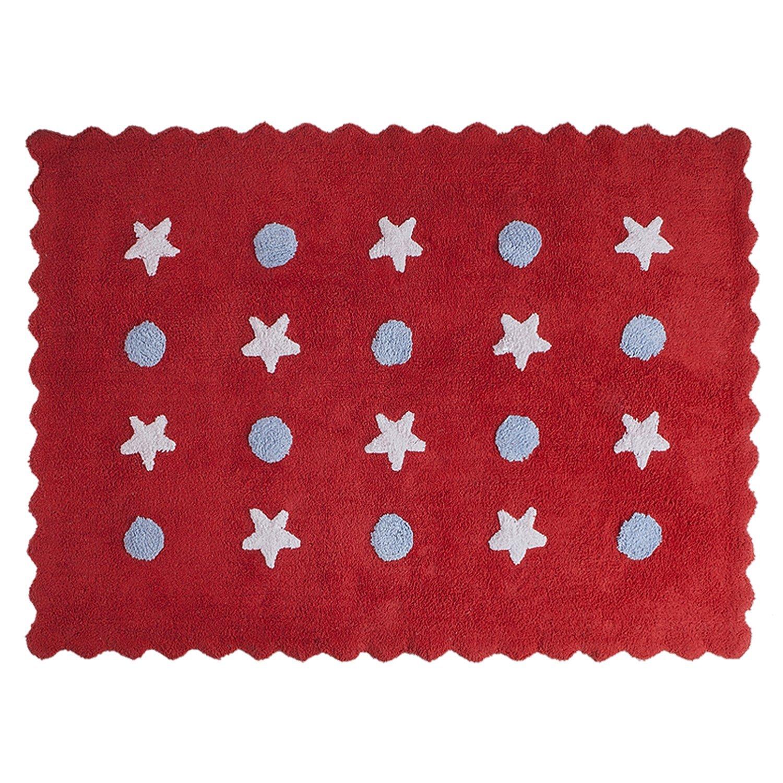 Happy Décor Kids Baby Tapis lavable (120x 60cm, Little Waves Rouge) Management Investment S.L HDK-104 HDK-104_Rojo Azul