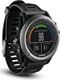 Garmin 010-01338-11 Fenix 3 - Reloj multideporte con GPS y correa, Reloj Gris/Correa Negra, Talla única