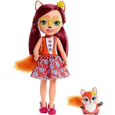 Enchantimals Huggable Cuties Felicity Fox Doll & Flick Figure: Toys & Games