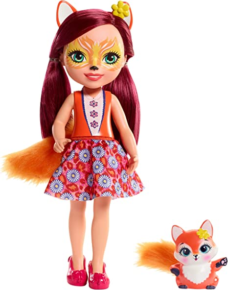 Enchantimals Huggable Cuties Felicity Fox Doll & Flick Figure