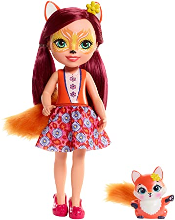 Enchantimals Huggable Cuties Felicity Fox Doll & Flick Figure