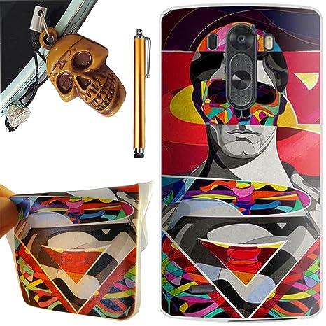 LG G3 mini Funda, Preciouscase Ultra Delgado Flexible Suave TPU Carcasa Gel Protector Trasero Piel Silicona Case Cover para LG G3 mini / LG G3 Beat ...