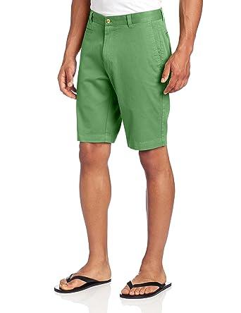Louis Raphael KHAKI Men's Slim Fit Flat Front Garment Dye Cotton ...