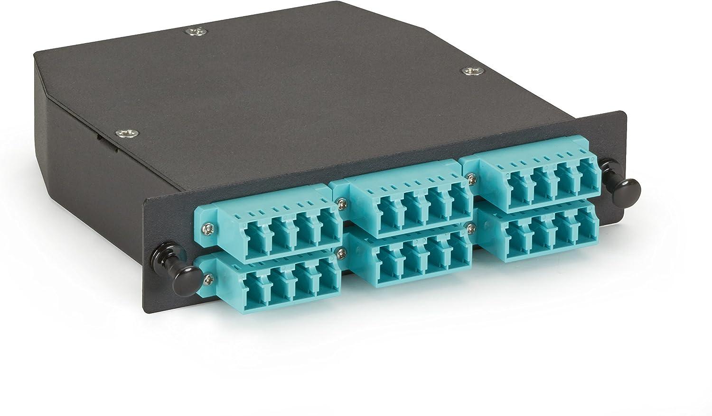 MTP Black Box Fiber Adapter Panel Key Up//Key Down 6 High Density,