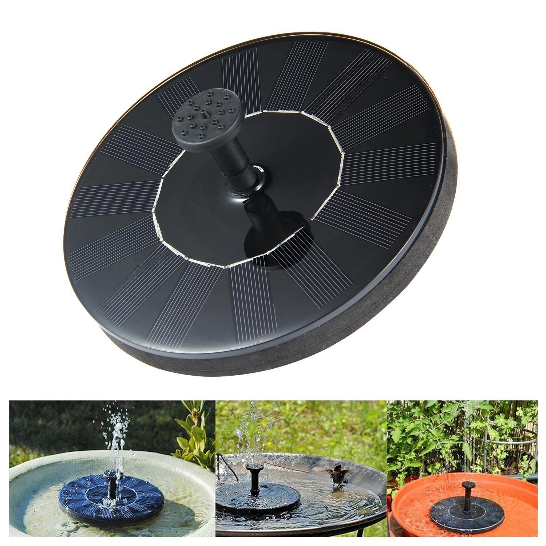niceeshop Solar Fountain, Solar Powered Water Fountain Pumps Panel Kit Outdoor Submersible Pump for Pond, Pool, Patio, Aquarium, Fish Tank
