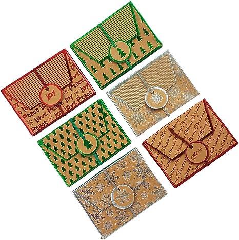 Amazon.com: Navidad Kraft Foil titulares de tarjeta de ...