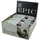 Epic All Natural Meat Bar, 100% Natural, Chicken Sesame & BBQ, 12 Count, Chicken, Sesame & BBQ
