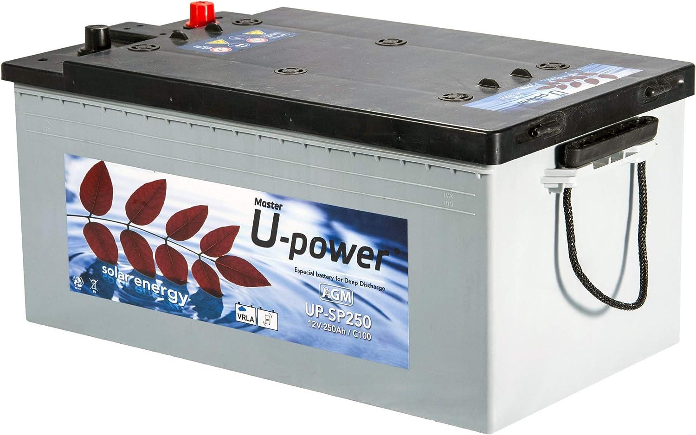 Master U-Power Batería Solar, AGM SP 250AH 12V
