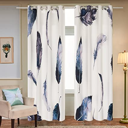 dining room window curtains short fassbel panel set digital printed window curtains for bedroom living room dining kids youth amazoncom