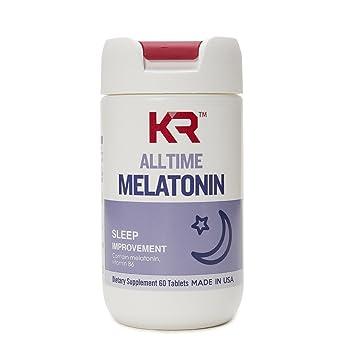 Amazon.com: KR Wellness Melatonin, Sleep improvement, with Vitamin ...