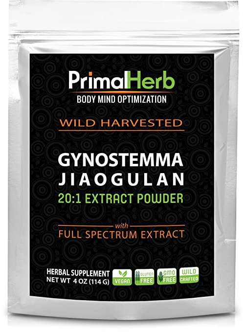 Gynostemma Jiaogulan Extract Powder - Potent 20:1 Extract Powder - 82 Servings - Longevity Tonic - Full Spectrum