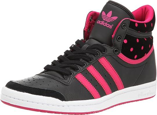 adidas Top Ten Hi Sleek, Basket mode femme - noir/rose fluo ...