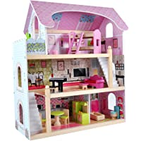 Bandits & Angels Puppenhaus, Angels Villa aus Holz mit Möbeln