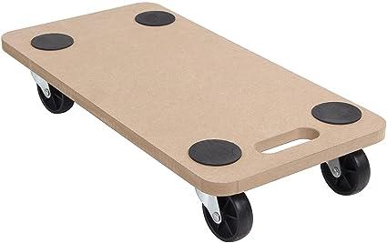 Carrito de madera con plataforma de 580 x 290 mm para mover muebles, 200 kg