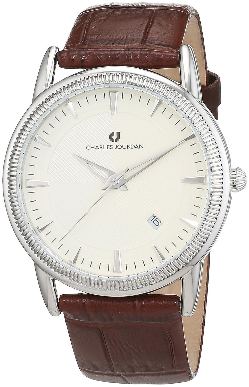 Charles Jourdan Herren-Armbanduhr Analog Quarz Leder JMD8651