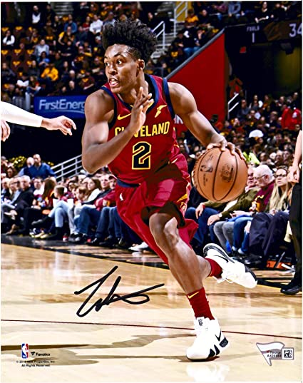 01580171e Collin Sexton Cleveland Cavaliers Autographed 8 quot  x 10 quot  Red  Driving Photograph - Fanatics Authentic