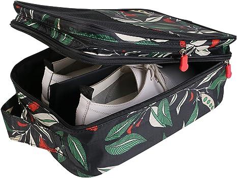 Bolsas de Zapatos de Viaje, Bolsa de Zapatos con Dibujar Cadena de Lazo el Polvo de la Prueba de Zapatos de Almacenamiento de Bolsas para Viaje para Hombres y Mujeres (Verde): Amazon.es: