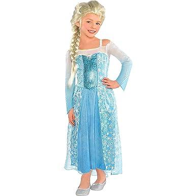 Amazon.com: Disney Frozen Elsa disfraz de tamaño 8 – 10 ...