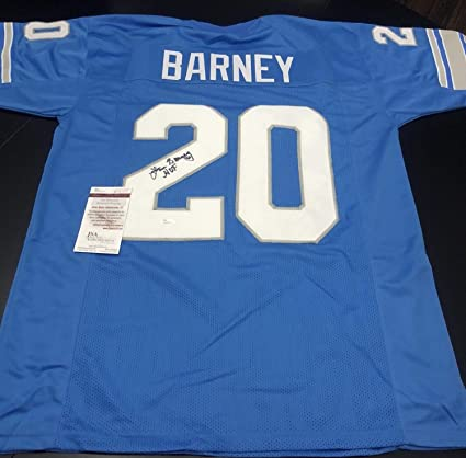 super popular c444e b8cb0 Lem Barney Autographed Signed Authentic Detroit Lions Jersey ...