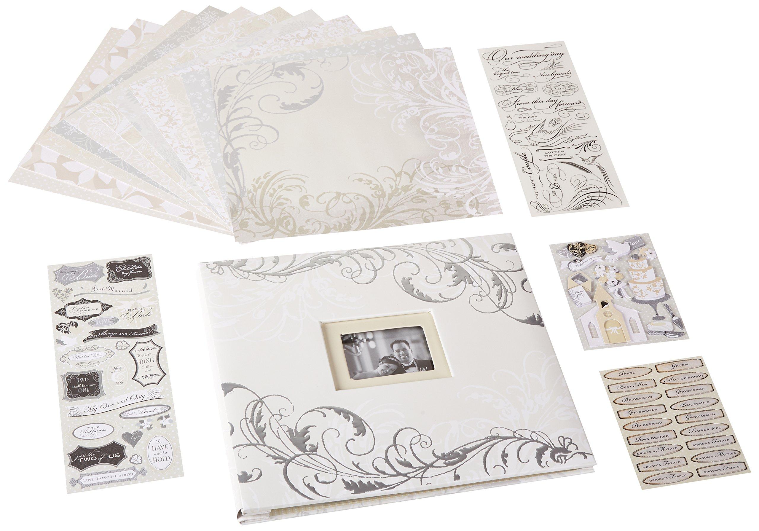 K&Company Classic Wedding Boxed Scrapbook Kit