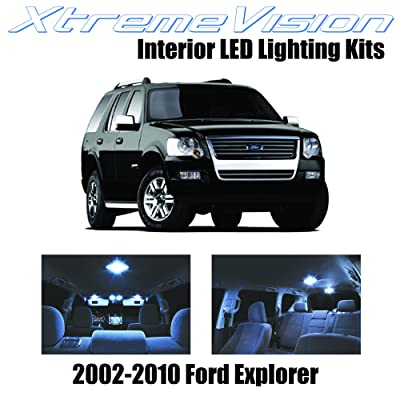 Xtremevision Interior LED for Ford Explorer 2002-2010 (11 Pieces) Cool White Interior LED Kit + Installation Tool: Automotive