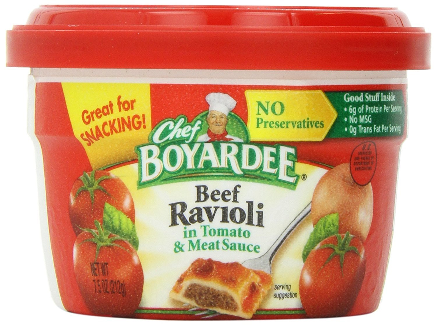Chef Boyardee Beef in Tomato & Meat Sauce Ravioli, 7.5 Oz. (Pack of 12)