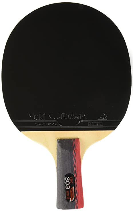 Amazon.com : Butterfly 303 Chinese Penhold Table Tennis Racket Set ...