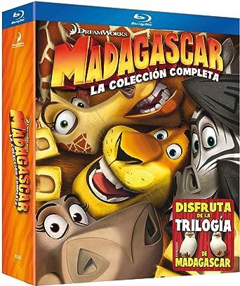 Madagascar 1, 2 Y 3 - Pack 3 Blu-Ray [Blu-ray]: Amazon.es ...