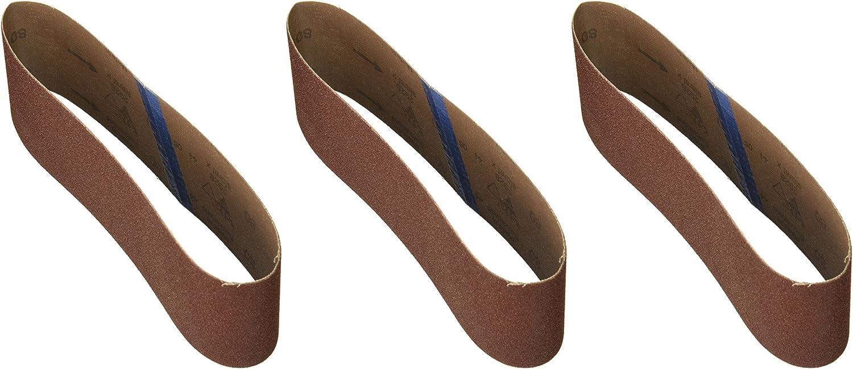 Bosch SB4R080 3-Piece 80 Grit 3 In x 21 In Sanding Belts