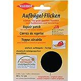 Kleiber - Parche de reparación de algodón, termoadhesivo, tamaño grande, 40 x 12 cm, color negro