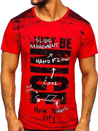 BOLF Hombre Camiseta de Manga Corta Escote Redonodo Camiseta de ...