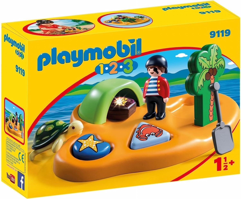 PLAYMOBIL 1.2.3-9119 Isla Pirata, Multicolor, única (9119)