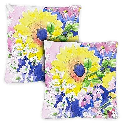 Toland Home Garden 721220 Mixed Bouquet 18 x 18 Inch Indoor/Outdoor, Pillow with Insert (2-Pack) : Garden & Outdoor