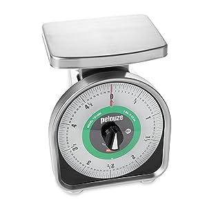 Rubbermaid Commercial FGYG180R Pelouze Aluminum Y-Line Mechanical Portion-Control Food Scale, 5-pound