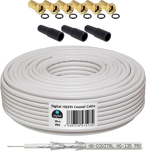 HB-DIGITAL cavo coassiale satellitare e connettore a F