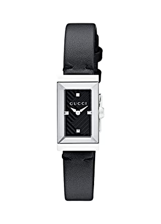 wholesale dealer c8cb1 999ed Gucci G-Frame Black Dial Ladies Leather Watch YA147504