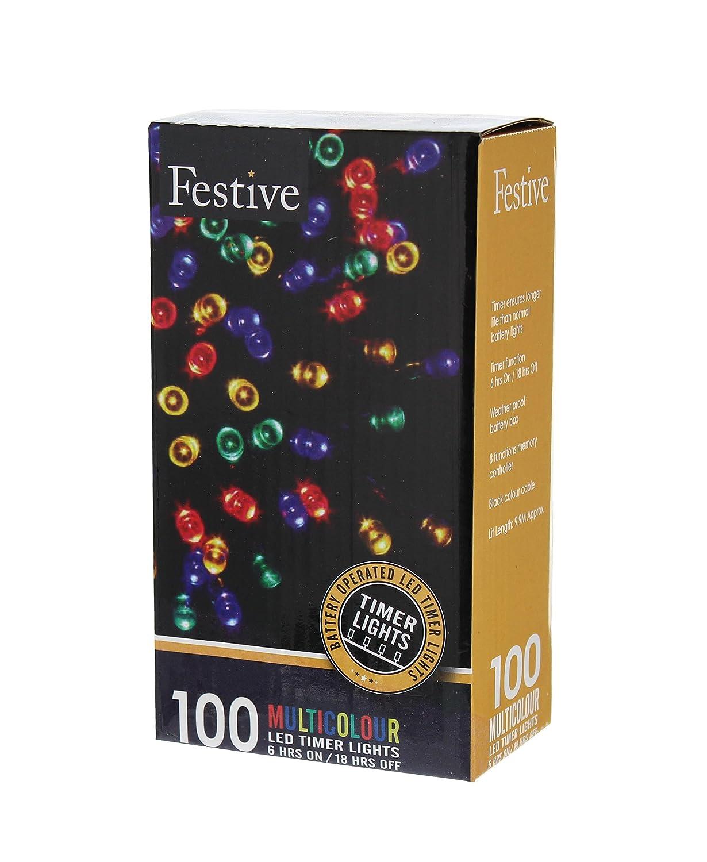 100er LED Lichterkette Innen- und Außen Garten Party oder ...