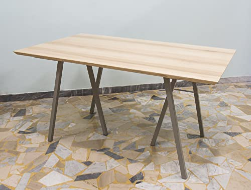 Ebanisteria Gambella - Mesa extensible en madera de fresno: Amazon ...