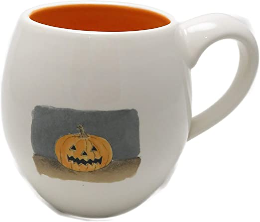 Rae Dunn Happy Halloween Jack O Lantern Pumpkin Mug