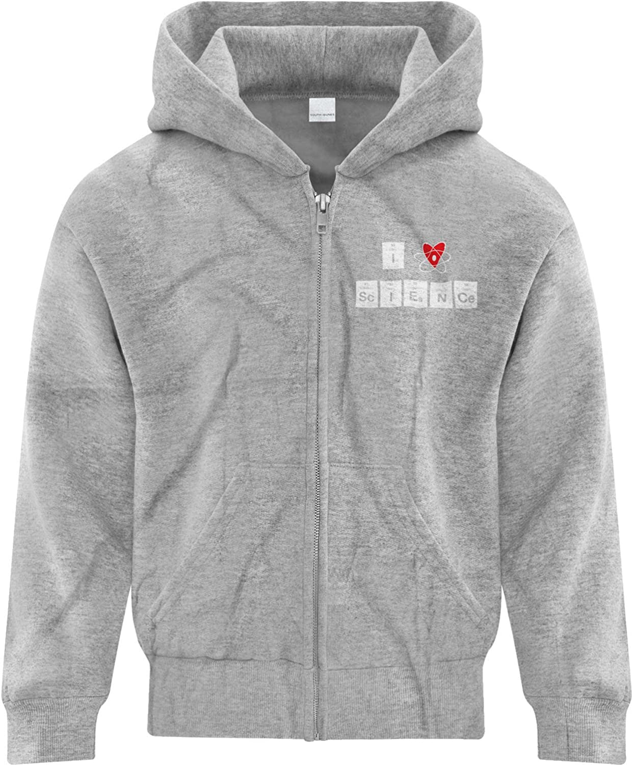 BSW Youth Boys I Love Science Periodic Table Zip Hoodie Heart