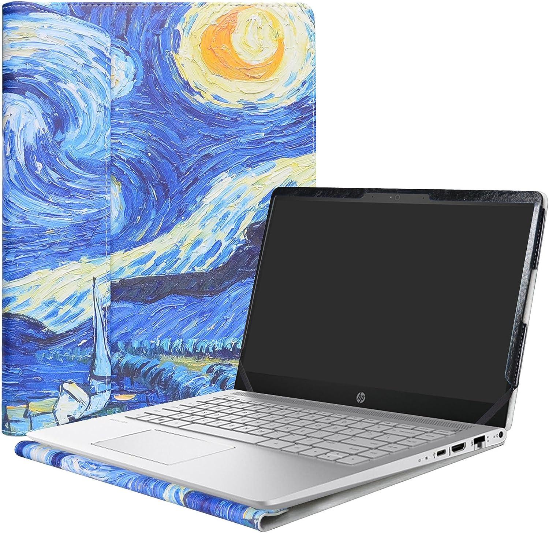 """Alapmk Protective Case for 14"""" HP Pavilion 14 14-bfXXX 14-ceXXX/Pavilion x360 14 14-cdXXXX 14M-cdXXXX 14-dhXXXX Laptop(Not fit Pavilion 14 14-bkXXX 14-bXXX/Pavilion 14 x360 14-baXXX),Starry Night"""