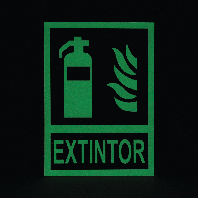 EXTINTOR ALTA EFICACIA 6KG INCLUYE SOPORTE PARED + BASE PVC + SEÑAL FOTOLUMINISCENTE A4 210x297 mm